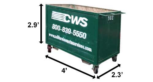 Image of CWS 1-Yard Dumpster