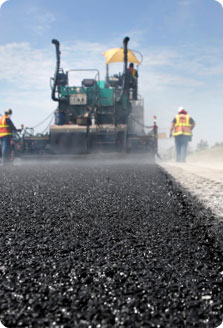 Image of road being paved with asphalt