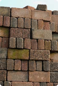 Image of bricks stacked